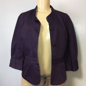 Halogen Womens Blazer Jacket Purple Lining 100%